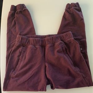 Lululemon burgundy jogger sweatpants
